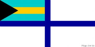 Bahamas Reserve Naval Ensign  (Auxiliary)
